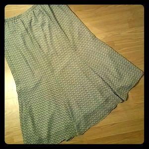 Leslie Fay Sheer Skirt